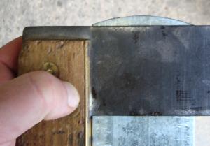 Überprüfung des Schnabels mittels Winkel