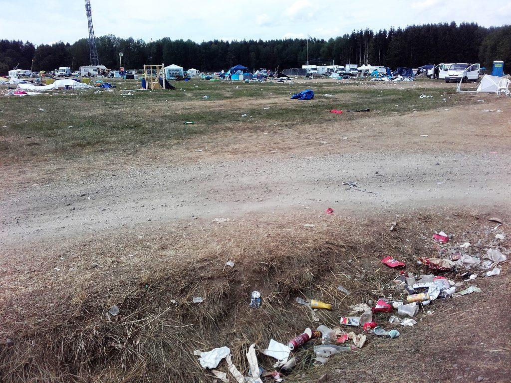 Müllmassen bei der nature one
